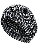 Unisexe Bonnet en laine/tricoté type long bonnet avec rayures