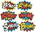 "Cardboard Jumbo Superhero Word Cutouts (size: 26"" x 18"") - 6 pcs"