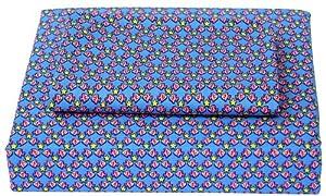 Tommy Hilfiger Fish Kiss Twin Cotton Sheet Set, Blue