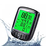 JSDOIN Bike Computer Speedometer Wireless Waterproof Bicycle Odometer Cycle Computer Multi-Function Large LCD Back-Light Display (2)