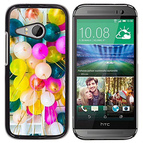 Pulsar Snap-on Series plastica caso dura Guscio Protettivo Cassa Cover Case per HTC ONE MINI 2 / M8 MINI , Birthday Balloons Colorful Party Event