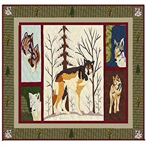 Click to buy Designer Shower Curtains:  Patch Magic Call of the Wild Wolf Shower Curtain from Amazon!