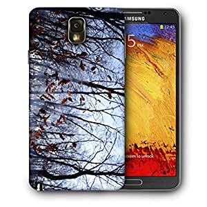 Snoogg Falling Dry Leaves Printed Protective Phone Back Case Cover For Samsung Galaxy NOTE 3 / Note III