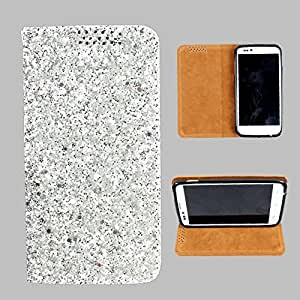 i-KitPit Sparkling PU Leather Flip Case For Micromax A65 Smarty (SILVER WHITE)