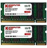 Komputerbay 4Go 2X 2Go DDR2 667 MHz PC2-5300 PC2-5400 DDR2 667 (200 PIN) SODIMM mémoire d'ordinateur portable