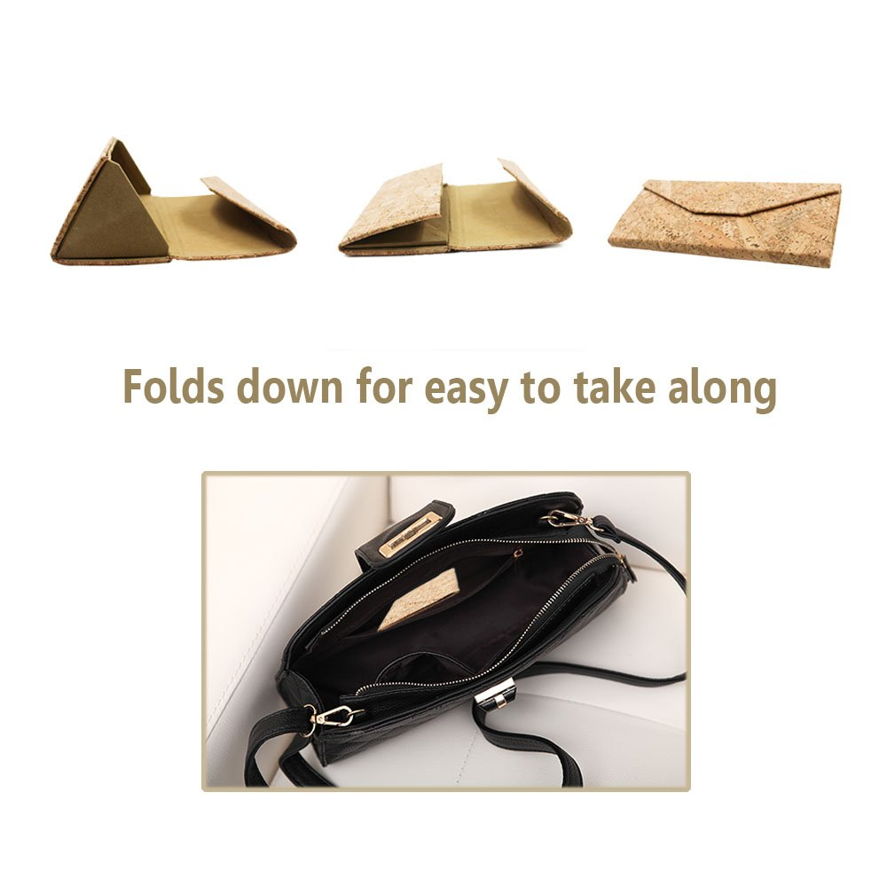 Eyeglasses Case, ASAPS Vintage Foldable Eyeglasses Case (Wood Sawdust) 1