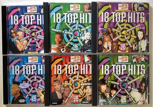 18 Top HIts aus den Charts - Die komplette Reihe 1-6 aus 1995 (CD Sammlung, 6 CDs vom Label Top13 Music, insgesamt 108 Titel)