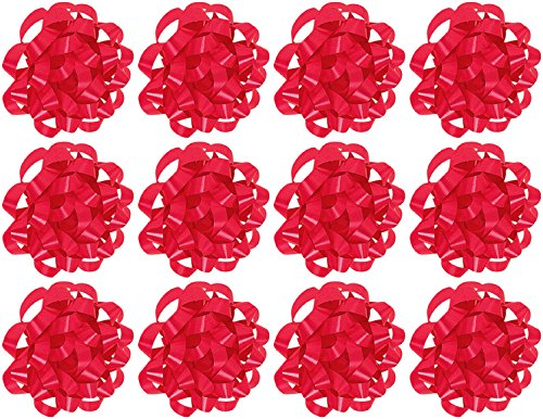 The Gift Wrap Company  Decorative Confetti Gift Bows, Medium, Red, pack of 12 (The Gift Wrapping Company compare prices)