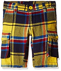 UFO Boys' Shorts (AW16-NDF-BKT-291_Yellow_14 - 15 years)