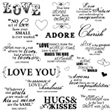 Fiskars 8-Inch by 8-Inch Quote Clear Stamps, Lasting Love