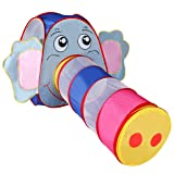 EnjoyShop Foldable Elephant Tunnel Kids Play Tent Safe and Non-Toxic Foldable Design Ideal for Outdoor or Indoor Use (Color: As the Pictures Show, Tamaño: 65.4