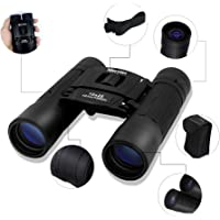Merytes 10x25 Portable High Definition Binocular (Black)
