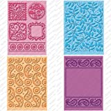 Provo Craft Cuttlebug Cricut Companion Embossing Folder Bundle 4/Pkg-Cindy Loo (2) 5x7 & (2) A2 Sizes