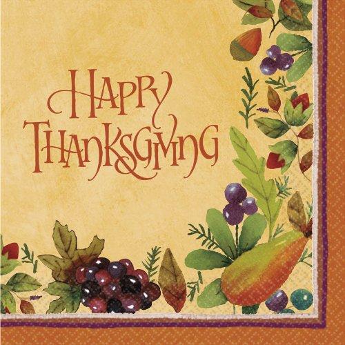 Thanksgiving Medley - Lunch Napkins Party Accessory - 1