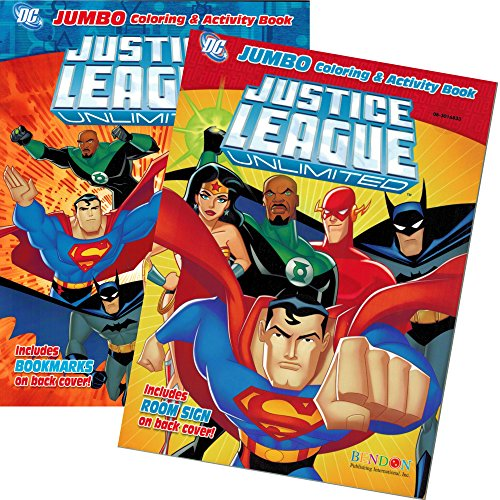 DC Comics® Justice League Coloring And Activity Book Set (Two 96 -page Books) Batman, Superman, Wonder Woman, Green Lantern, The Flash, Aquaman, and Cyborg - 1
