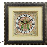 HANDICRAFTS PARADISE PARROT PAINTED MARBLE WALL CLOCK HPMR15008