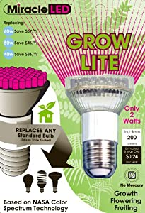 Amazon Com Miracle Led 605020 Grow Bulb Red And Blue