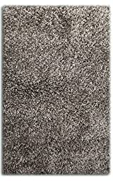 Sultansville Colorville Collection High-Pile Soft Shag Area Rug, Dark Grey