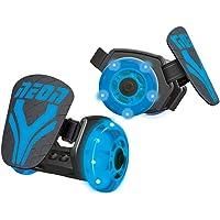 Neon Kids Light Up Clip on Skates Street Rollers (Blue)
