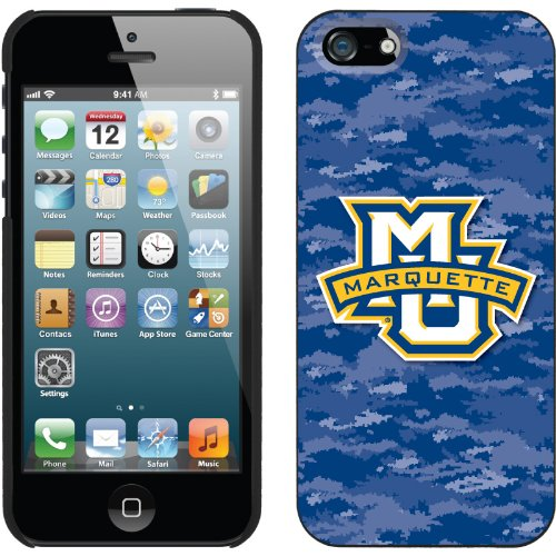 Special Sale Marquette Emblem on Camo design on a Black iPhone 5s / 5 Thinshield Snap-On Case by Coveroo