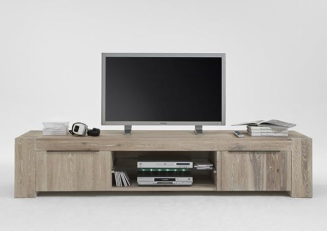 Cambridge–Mobile TV 2nicchie/2porte legno quercia massiccio