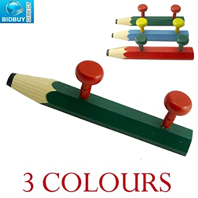 Pencil Shaped Coat Hook - Great for Kids Bedroom, Playroom - Easy to Fit