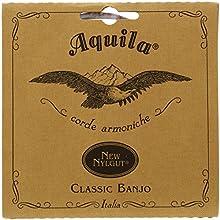 Aquila 1B New Nylgut - Juego de 5 cuerdas para banjo (re-si-sol-re-sol)