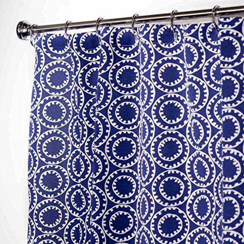 Extra Long Shower Curtain Bathroom Curtains Fabric Shower Curtains Blue Nautical Decor 96 Inches