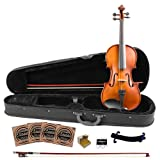 Rise by Sawtooth 3/4 Size Student's Violin with Carved Solid Spruce Top & Maple Back and Sides, (ST-RISE-VSS-3/4)