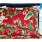 Red Birds of Paradise Comforter Set - King Size Comforter with Two (2) King Shams