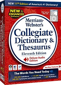 merriam webster collegiate dictionary 13th edition