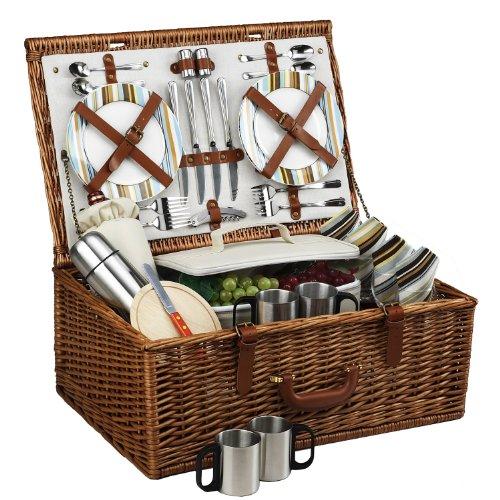 Picnic At Ascot Dorset Basket For 4 With Coffee Service, Santa Cruz