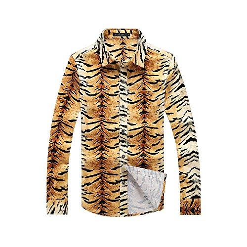 Victory Man(ビクトリー メンズ)長袖 シャツ メンズ 豹柄 綺麗め カジュアル 個性的 ストリート モード系 ファッション