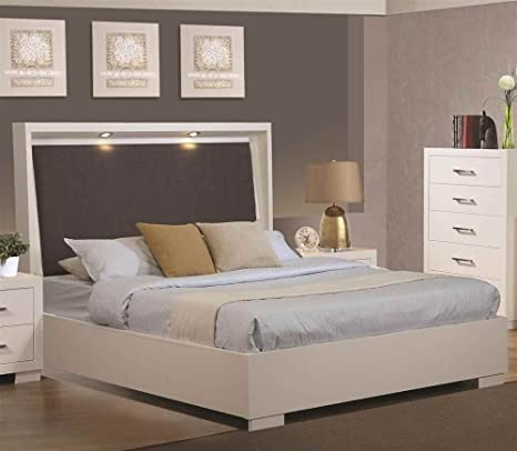 Jessica King Bed With With Built-In Touch Lighting By Coaster Furniture
