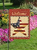 Patriotic Welcome Americana Flag - Garden