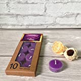 Devinez Scented Lavender Smokeless Tealight Candles With Crystal Case, (Pack Of 10), 4.5 Hour Buring