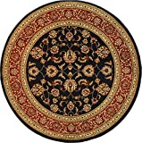 Well Woven Sarouk Navy Traditional 5'3'' Traditional Round Rug 54934