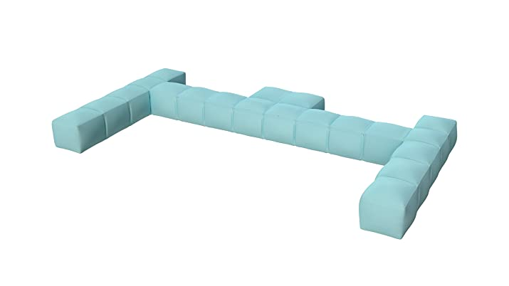 Pigro Felice 921989-azurblue Modul' aria lusso schienale gonfiabile doppio PVC blu cielo 234x 117x 24cm