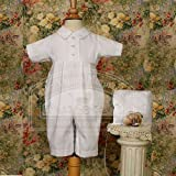 Dillon Gabardine Christening Coverall Outfit