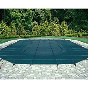 Mesh Safety Pool Cover -Pool Size: 12' x 24' Blue Rectangle Arctic Armor Silver 12 Yr Warranty