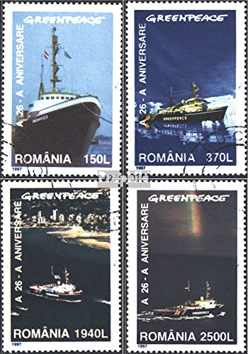 sellos-para-coleccionistas-rumania-5234-5237-completaedicion-matasellado-1997-26-anos-greenpeace
