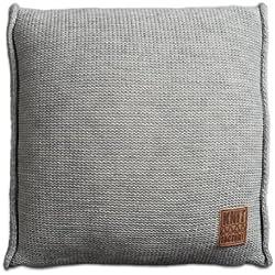Knit Factory 131211 Dekokissen Strickkissen Uni mit Füllung, 50 x 50 cm, grau