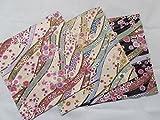 3 pieces Japanese Wrap cloth FUROSHIKI, flower flowing New