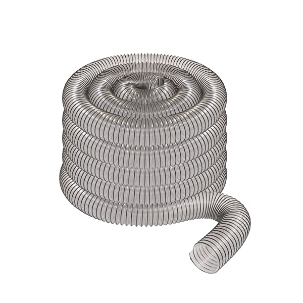 2 1/2 x 50' CLEAR PVC DUST COLLECTION HOSE BY PEACHTREE WOODWORKING PW369