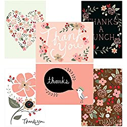 60 Postcards for $9.95 - Thank You Potpourri - 6 Different Images by Note Card Cafe