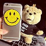 MO&MO LIMITED出品!iPhone7デコスマホケース スマイル クリアーケース 鏡面 デコケース アイフォン レディース アイホン にこちゃん FOR iPhone7 iPhone7 Plus iPhone5S/5 iPhone6S/6/iPhone6S/6 Plus 4.7/5.5インチ (iPhone6/iPhone6s, 鏡面)