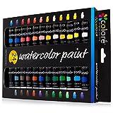 Colore Watercolor Painting Kit, 24 Colors