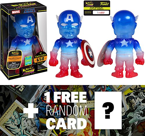 Captain America (2016 Summer Exclusive): Marvel Universe x Premium Funko Hikari Sofubi Vinyl Figure (Only 650 PCS Made World Wide) + 1 FREE Official Marvel Trading Card Bundle (101776)