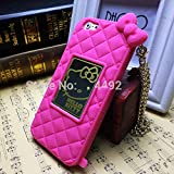 Go Crazzy Hello Kitty Back Case With Chain For Apple iPhone 6 (Hot Pink)