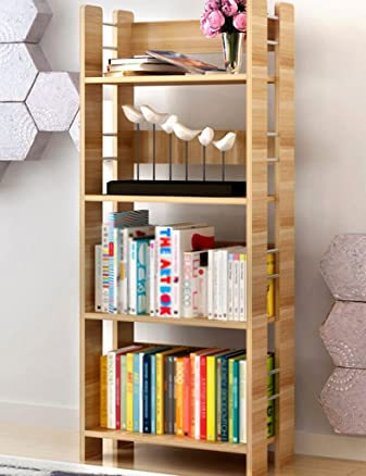 TH Libreria Scaffale creativo Scaffale creativo Scaffale creativo Libreria espositiva ( Colore : Yellow wood color , dimensioni : 4-tier )